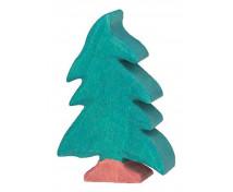 [Drewniane domki - Mały świerk (8 x 2,3 x 11 cm)]