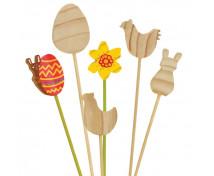 [Wielkanocne drewniane dekoracje - 12 sztuk]