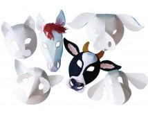 [Zwierzęta z farmy- papierowe maski]