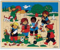 [Drevené puzzle - štyri ročné obdobia - jesenné obdobie]