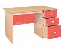 [Písací stolík so zásuvkami - červený]