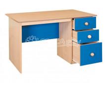 [Písací stolík so zásuvkami–modrý]