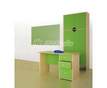 [Písací stolík so zásuvkami–zelený]