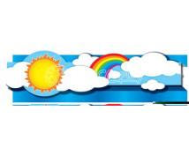 [Dekoračné pásy 3D - Slnko a dúha]