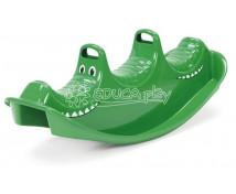 [Hojdačka pre troch - zelený krokodíl]