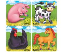 [Sada puzzle - zvieratá z farmy]