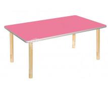 [Pastelový stôl - obdĺžnik ružový]