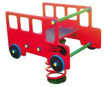 [Hojdačky na pružine z preglejky s lavičkou - autobus]