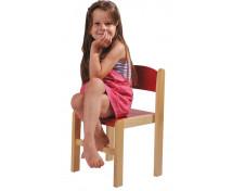 [Drevená stolička BUK 38 cm - červená]