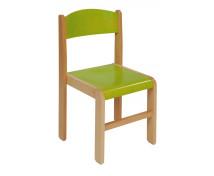 [Drevená stolička BUK 38 cm - zelená]