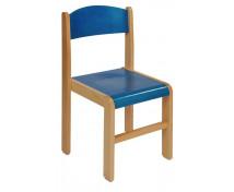 [Drevená stolička BUK 38 cm - modrá]