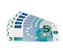 [Euro bankovky - 5 euro - 100 ks]