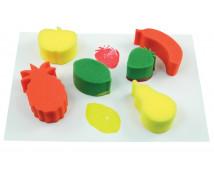 [Špongie na otláčanie - Ovocie - 6 ks (13 x 7,5 cm)]