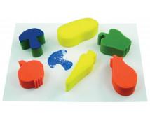 [Špongie na otláčanie - Zelenina - 6 ks (14 x 6 cm)]