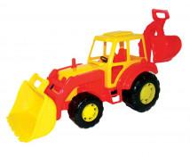[Veľký traktor s lyžicami]