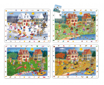 [Sada objavných puzzle - 4 Ročné obdobia (24 dielikov)]