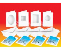 [Vykrojené gratulačné kartičky 190 g/m2 s obálkami - štvorec]