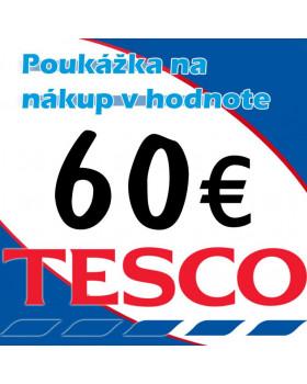 TESCO poukážka 60 eur