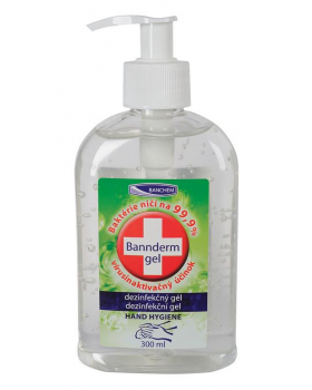 BANNderm gel na dezinfekciu rúk, 300 ml