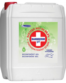 BANNderm gel na dezinfekci rukou, 5000 ml
