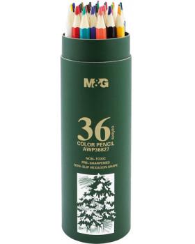 Pastelky šesťhrannév tube, 36 ks