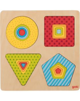 Vrstvové puzzle - Barevné tvary