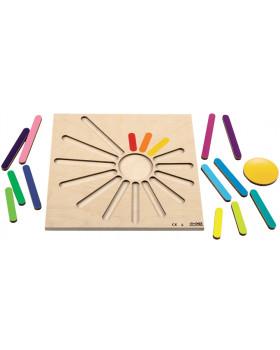 Vkládací puzzle - Duhové paprsky