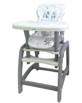 Jedálenská stolička Baby Mix 2v1 šedá