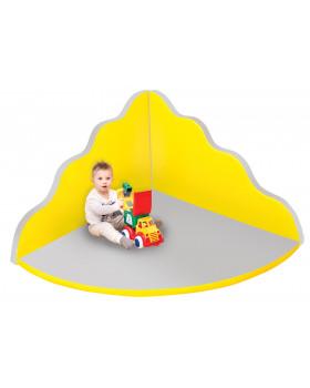 Rehabilitační koutek - Vlna velká - šedě žlutý