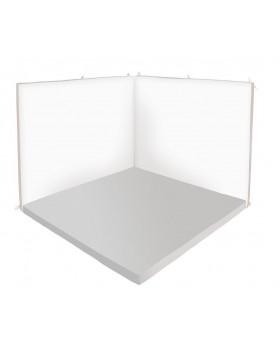 Oddychový kútik štvorec - Relax 2 - sivá / biela - veľký