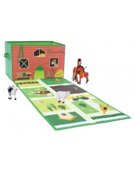 Box na hračky s podložkou - Farma