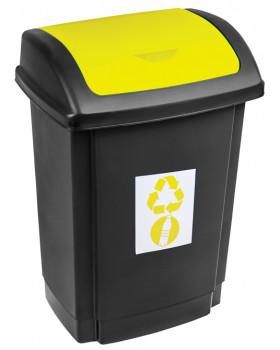 Odpadkový kôš na triedenie - žltý