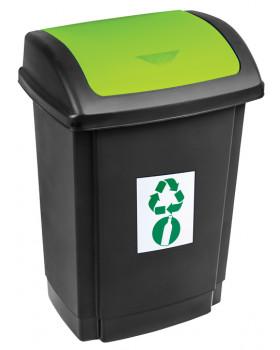 Odpadkový kôš na triedenie - zelený