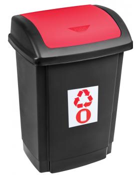 Odpadkový kôš na triedenie - červený
