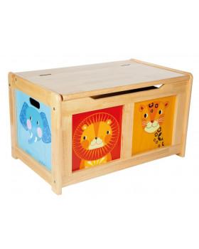 Dřevěná truhlice na hračky - natural