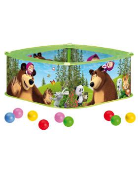 Bazén s loptičkami - Máša a medveď