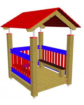 Domček s lavičkami