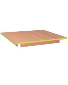 Stolová doska 25 mm, BUK, štvorec - zelená