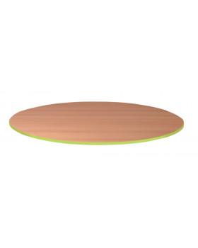 Stolová doska 25 mm, BUK, kruh - zelená