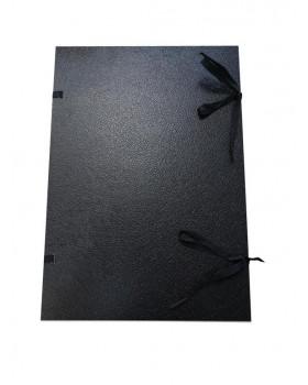 Spisové dosky A3 so šnúrkami, čierne