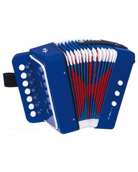 Akordeón modrý