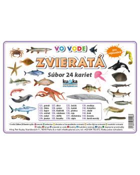 Precvičovacie karty - Zvieratá - vo vode-slovenská verzia