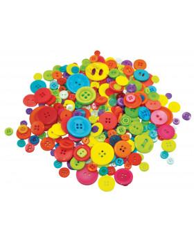 Gombíky rôznych tvarov a farieb