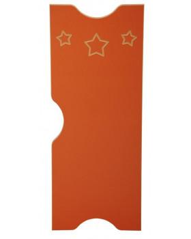 Dvířka k šatnám Ementál Hvězda - hnědé