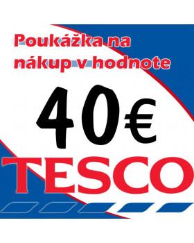 Tesco poukážky v hodnote 40 €