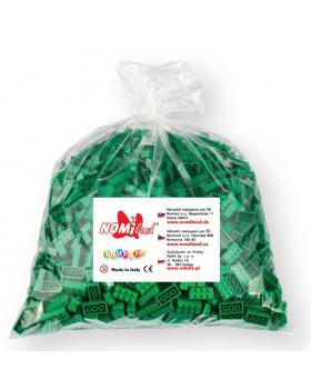 Kocky Qbriksy - 2x2 zelené - 1000 ks