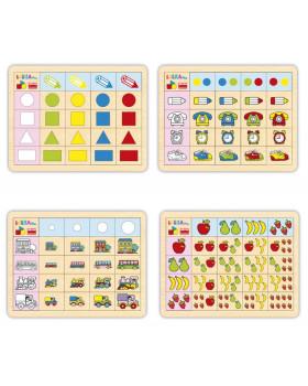 Logické přirazovaní barev,tvarů,počtů 1