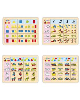 Logické přirazovaní barev,tvarů,počtů 2