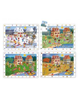 Sada objavných puzzle - 4 roč.obdobia(24 diel.)