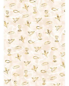 Kartón s metalickými prvkami - zlatý